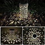 Broadroot Antike Solar laterne Indoor Outdoor Licht Metall Wasserdichte Rasen Garten LED Decor Lampe