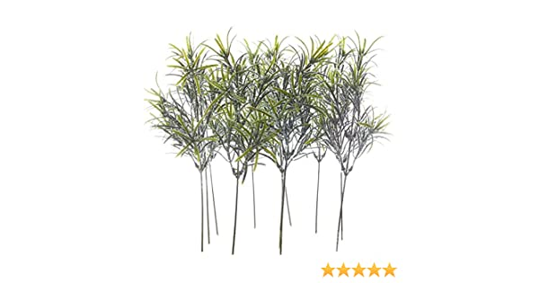 Factory Direct Craft Package of 12 Artificial Snowy Evergreen Fern Picks for Crafting Creating and Embellishing