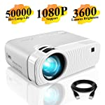 """Mini Projector, ELEPHAS 3600 Lumens Portable Projector Max 180"""" Display 50000 Hours Lamp Life LED Video Projector Support..."""
