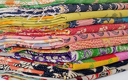 5 cobertores para cama algodón varios parches viejos, diseño tribal