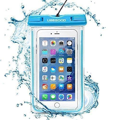 Ubegood Custodia Impermeabile Universale , Antiurto Snowproof con tocco Protezione Trasparente dello Schermo per iPhone 6S/6 ,6S/6 Plus e altri cellulari meno di 6 pollici (Blu) Blu