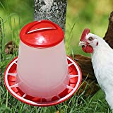 #7: Pets Empire Plastic Chicken Quail Poultry Feeder Drinker Waterer with Handle, 3 Litter