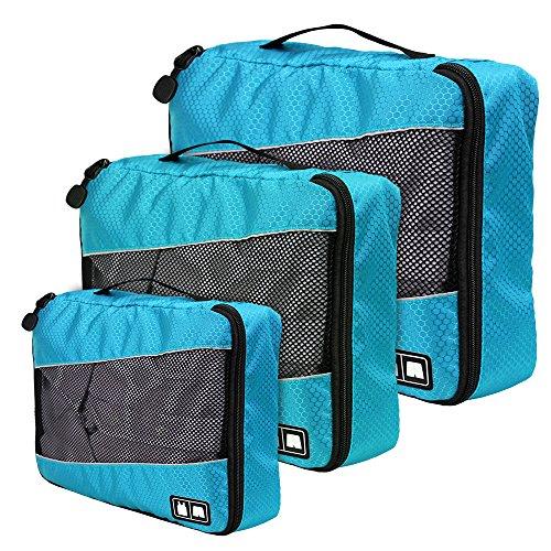 Organizador para Maleta, Blueidea® 3pcs/set Impermeable Bolsas de Viaje Organizador