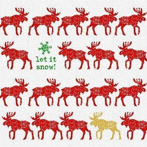 NOEL Orignal rouge vert 3-ply 20 Papier Serviettes de table 13 \