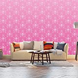 Fototapete Barock Pink Muster Vlies Tapete Wandtapete - Tapete - Moderne Wanddeko - Wandbilder - Fotogeschenke - Wand Dekoration wandmotiv24 Größe: XL 350 x 245 cm - 7 Teile - Vlies