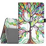 Huawei MediaPad T1 8.0 Funda - Fintie Folio Soporte Funda Case para Huawei Media Pad T1 8.0 / Honor T1 8 Pulgadas Android Tablet, Love Tree