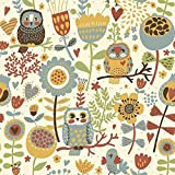 Canavas Painting Showing Ethnic Owls Canvas Paintings in HD Print For Home Living Room & Office Decoration By FRIENDS OFFICE AUTOMATION (Size : 12 x 12 Inch)