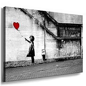 bild auf leinwand banksy graffiti art there is always hope fotoleinwand24 aa0134 grau. Black Bedroom Furniture Sets. Home Design Ideas