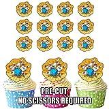 vorgeschnittenen Ten Pin Bowling–Essbare Cupcake Topper/Kuchen Dekorationen (12Stück)
