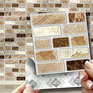 wandfliesen mosaik effekt selbstklebend ohne zement steinoptik f r ein einfaches. Black Bedroom Furniture Sets. Home Design Ideas