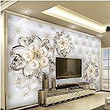FangKuai FKAL0597 Beibehang Gran Fresco Fondos De Pantalla Personalizados 3D Diamantes 3D Flores Suave Bolsa De Fondo Dormitorio Sala De Muro Vivo Papel De Parede