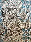 Brusa Tessuti Italiani- Tessuto Viscosa- 100% Made in Italy- 100% Viscosa- Disegno con Motivi Geometrici- Altezza 142 CM- Vendita al Metro- Alta qualità