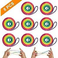 8 Pièces Corde à Doigts Rainbow Toy,Exercez Vos Doigts et Votre Cerveau