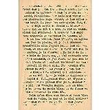 Florilèges Design FHA216108 Tampon Texte Grunge, Bois, 15 x 10 x 2,5 cm