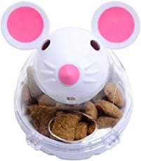 NiceButy Chat Tumbler Spielzeug, Futterball, für Hunde, Katzen, Snackspender, Spender für Haustiere, Lernen (weiß)