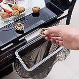 Decdeal Küchenschrank Müllsackhalter Küchenabfallsackhalter Müllbeutelhalter mit Deckel bis zu 10 Pfund