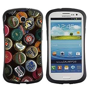 Case699 Phone Accessory / Beer Cap Collection / Hybrid Schlank stoßfeste Gehäuse für SAMSUNG GALAXY S3 SIII GT-i9300 / GT-i9305 LTE 4G