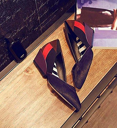 NobS Femmes Talon Compensé Talon Pointu Talons Hauts Chaussures DéContractéEs Clolor Purple
