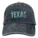 Rain Texas Vintage Jeans Baseball Cap Outdoor Sports Hat for Men and Women