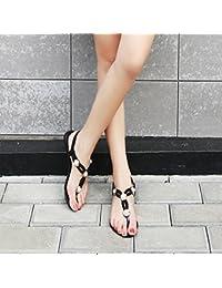 MeiMei Sommer Flach mit Clip Toe Sandalen Frauen Flache Schuhe mit Einem Einfachen Flache Unterseite Schelle Fuß Sandalen Weiblichen Sommer