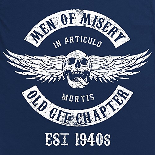 Men Of Misery - Established 1940s Langarmshirt, Herren Dunkelblau