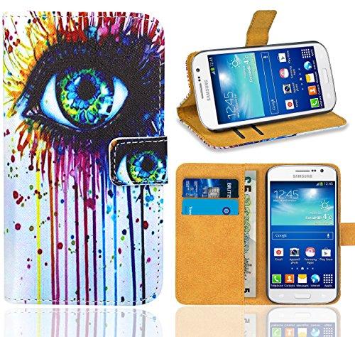 Samsung Galaxy Grand Neo / Grand Neo Plus Handy Tasche, FoneExpert Wallet Case Flip Cover Hüllen Etui Ledertasche Lederhülle Premium Schutzhülle für Samsung Galaxy Grand Neo / Grand Neo Plus (Pattern 10)