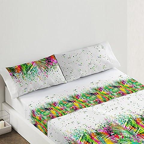 Burrito Blanco - Juego de sábanas Gran Selección 009 para cama 105x190/200 cm, único