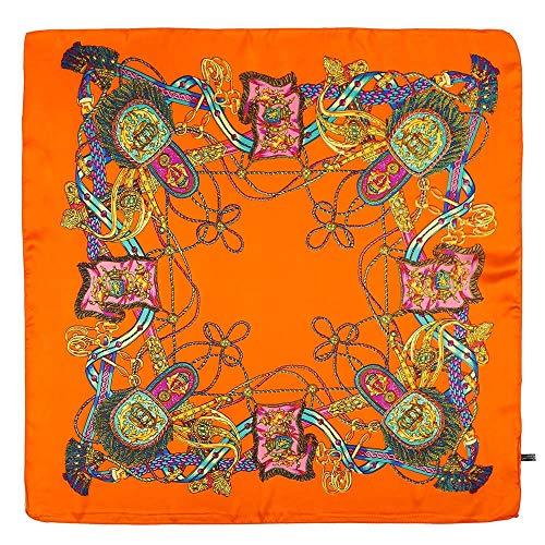 (GreatestPAK Damen Schal Sonnenschirm kleine quadratische Kopfschmuck gedruckt Vintage Mode Platz Handtuch Blumendruck Haarband)