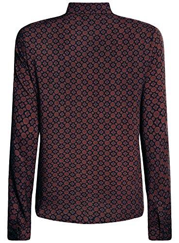 oodji Ultra Damen Viskose-Bluse mit Druck Violett (8849G)