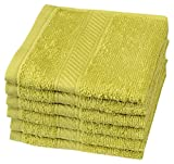 #10: Trident Everyday Plus Solid 6 Piece 400 GSM Cotton Face Towel Set - Oasis