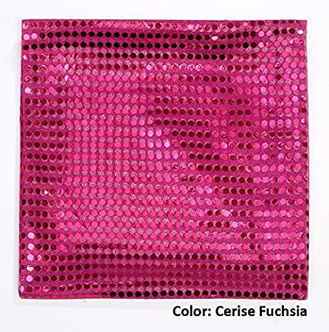 Confetti Sequins Dot Decorative Dress Jersey Fabric, Stretch Knit Mesh Base Polyester For Costume, Dance & Ballet, Cheer and Décor, Neotrims, Cerise Fuchsia - 1 Meter