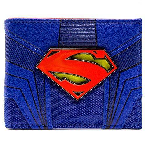 DC Comics Superman Emblème Bleu Portefeuille