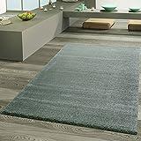 Teppich Wohnzimmer Designer Teppiche Luxus Frieze Schimmer Optik Pastell Grün, Größe:160x230 cm
