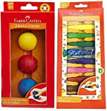 #10: Faber-Castell 10 Kindergarten Grip Crayons & 3 Kindergarten Boll Crayons pack Of Two