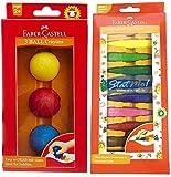 #1: Faber-Castell 10 Kindergarten Grip Crayons & 3 Kindergarten Boll Crayons pack Of Two