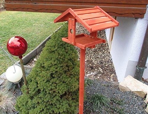 Vogelhaus BIRD OASIS Vogelvilla Futterhaus Vogelhäuschen mit Ständer Vogel Holz - 4