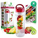 Fruit Infused Water Bottle (Red) 24 Ounc...