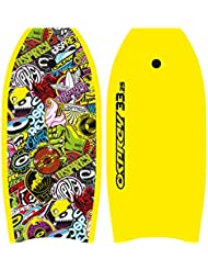 Osprey Stickers Bodyboard with Leash Slick EPS Board with Crescent Tail, Multiple Colours, 33 inch