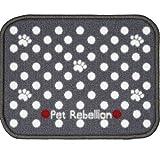 Pet Rebellion Absorbent Dog & Cat Food Mat Dinner Mate Mini Dotty Grey