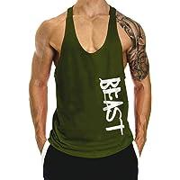 ClzGym Men's Gym Cotton Beast Muscle Stringer Vest