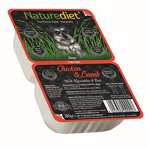 Naturediet Chicken and Lamb with Vegetables and Rice Dog Food Tray, 18 x 390 g