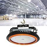 Anten Projecteur Suspension Industriel LED UFO 150W 22000LM, Eclairage mineur Extérieur Imperméable IP65, Lumière Blanc Froid 6000-6500K pour l'éclairage d'entrepots grande hauteur. AC100-240V Certification de CE TÜV