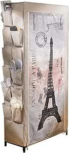 Shoe Rack Paris With Printed Cover Küche Haushalt