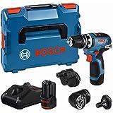 Bosch Professional 12V sladdlös borrskruvdragare GSR 12V-35 FC (inkl. 2x 3,0Ah-batteri, snabbladdare GAL 12V-40, fyra FlexiC