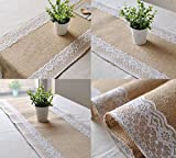9ft Hessian Table Runners Burlap & Lace ...