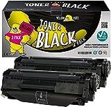 Yellow Yeti Q2612A 12A (2.000 Seiten) 2 Premium Toner kompatibel für HP Laserjet 1010 1012 1015 1018 1020 1022 1022n 1022nw 3010 3015 3020 3030 3050 3052 3055 M1005 MFP M1319f MFP [3 Jahre Garantie]
