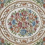 S&RL Europäische Pastoralen Runden Teppich/Pflanze Blume Kissen/Teppich / Büro Studie Couchtisch Matte/Wohnzimmer Teppich,Durchmesser 2,0 m