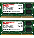 Komputerbay 16GB (2X8GB) PC3-10600 PC3-10666 1333MHz SODIMM 204-Pin Laptop Speicher 9-9-9-24 nur für PC - nicht MAC