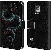 Ufficiale Christos Karapanos Il Serpente Dentro Horror 2 Cover a portafoglio in pelle per Samsung Galaxy S5 mini