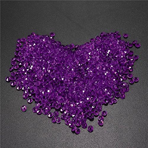 Tutoy 1000pcs 4.5 mm Tabelle Crystal Diamond Acryl Kristalle Diamanten Hochzeit Party Dekoration - Lila
